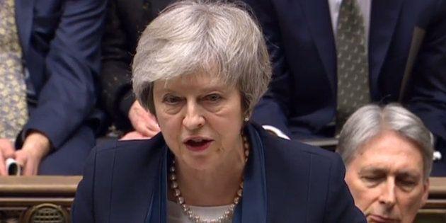 Theresa May au Parlement britannique à Londres le 15 janvier