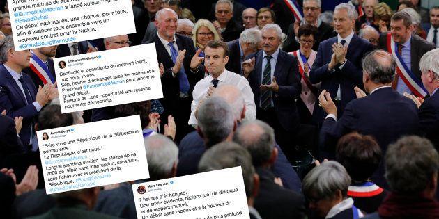 Pour le lancement du grand débat à Grand Bourgtheroulde dans l'Eure, Emmanuel Macron a débattu près de...