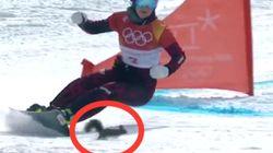 Cet écureuil a donné des frissons aux spectateurs du slalom géant parallèle à
