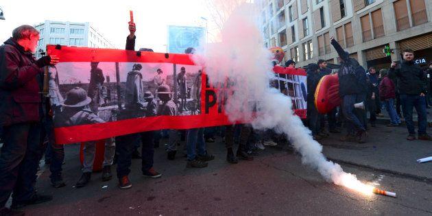 Manifestations d'extrême droite et d'antifascistes en Italie après de graves tensions