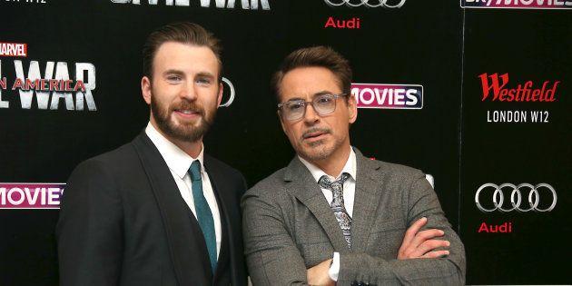 Robert Downey Jr. et Chris Evans auraient pu jouer dans Blanche-Neige (Photo d'illustration: Chris Evans...
