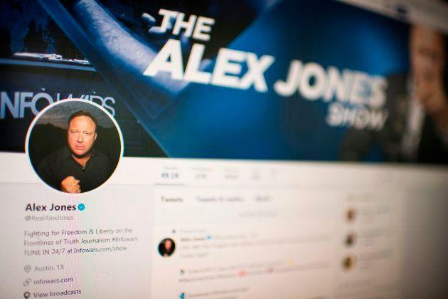 Le compte officiel d'Alex Jones avant sa