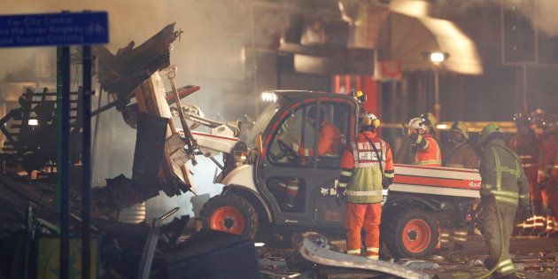 Un immeuble a explosé à Leicester en Grande-Bretagne ce 25 février