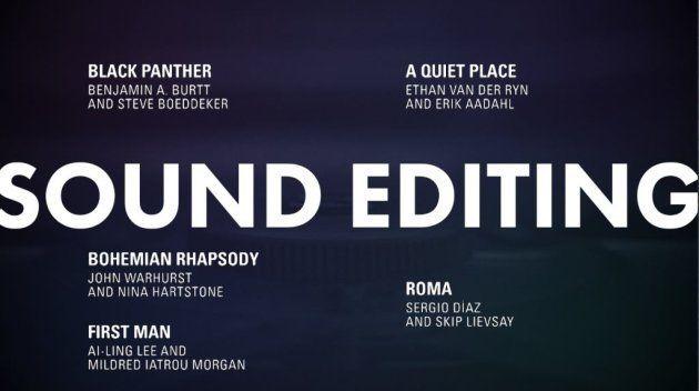 Meilleur montage sonore Oscars