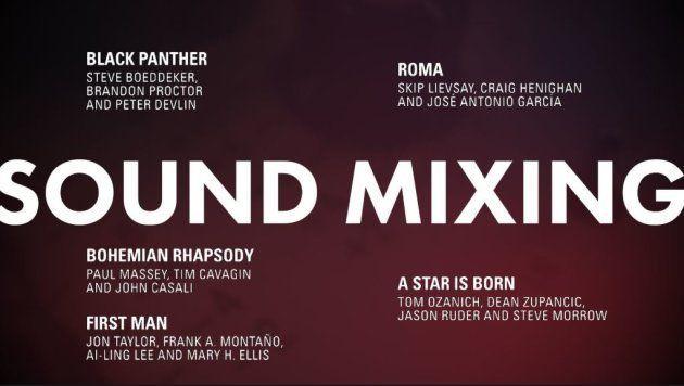 Meilleur mixage sonore Oscars