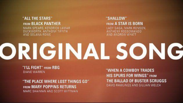Meilleure chanson originale Oscars