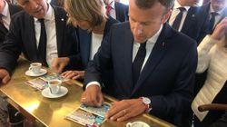 Macron joue (mais ne gagne rien) au loto du