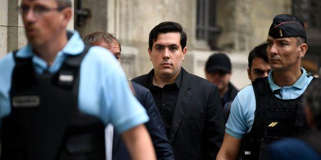 Esteban Morillo, un des trois militants d'extrême droite jugés dans le procès Clément Meric, aux assises...