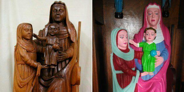 La restauration de cette statue du XVe fait polémique en