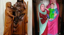 La restauration de cette statue du XVe siècle fait polémique en