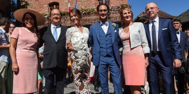 François Hollande et Ségolène Royal au mariage de leur fils Thomas à Meyssac en Corrèze le 8 septembre