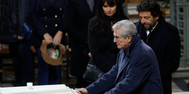 Claude Lelouch lors des obsèques de Johnny Hallyday à Paris le 9 décembre