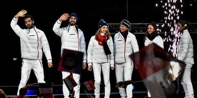 Les médaillés français de Pyeongchang acclamés à Grenoble le 26 février