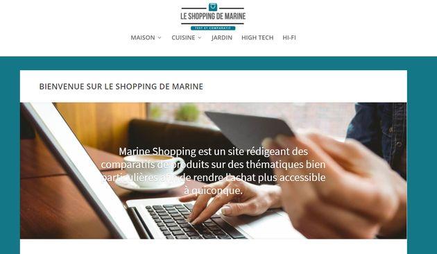 Vous pouvez acheter votre cafetière ou votre aspirateur sur le site de campagne de Marine Le
