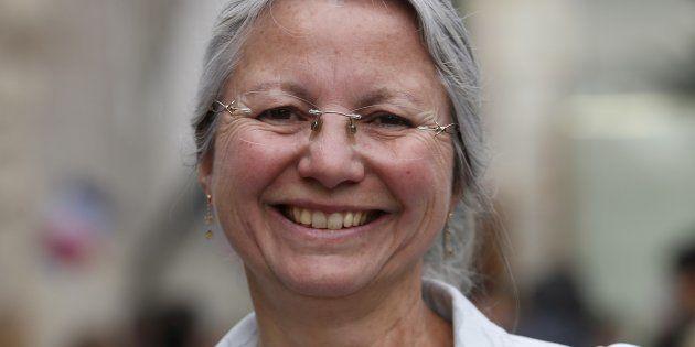 Agnès Thill lors de sa campagne législative victorieuse, au printemps