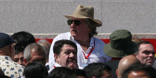 Gérard Depardieu à Pyongyang le 9 septembre