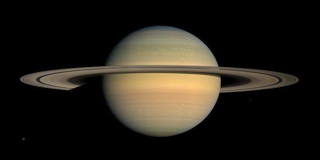 Image de la planète Saturne prise par la Nasa en 2008 (photo