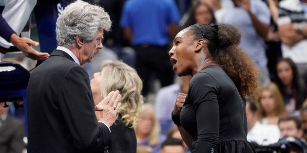 Serena Williams en finale de l'US Open samedi 8