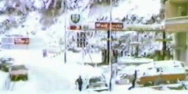 Alizée sort les images d'archives et vous montre à quoi ressemblait la ville d'Ajaccio sous la neige...
