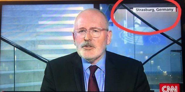 Pour CNN, Strasbourg est située en