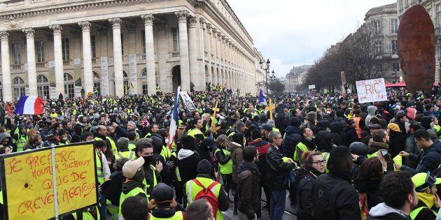 Les gilets jaunes étaient plus de 4000 rassemblés samedi 12 janvier à