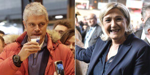 Salon de l'agriculture: Marine Le Pen et Laurent Wauquiez, deux méthodes pour un même