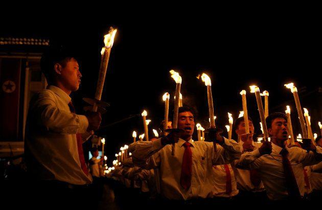 Corée du Nord: les images impressionnantes de la cérémonie des 70 ans du
