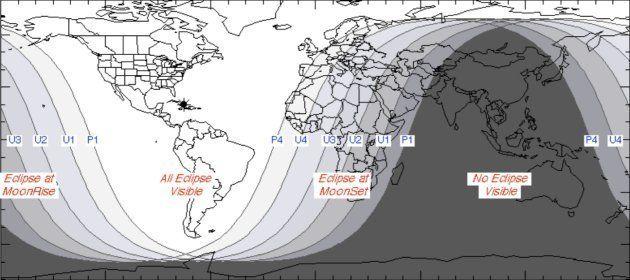 L'éclipse lunaire du 21 janvier 2019 sera partiellement visible en Europe et entièrement en Amérique...