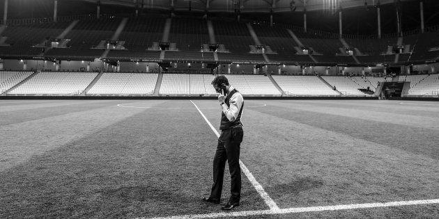 Gareth Southgate, entraîneur de l'Angleterre le 18 juin 2018 au Volgograd Arena en