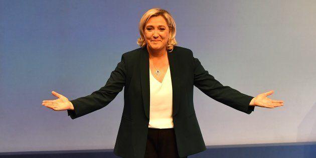 Marine Le Pen à Paris le 13 janvier