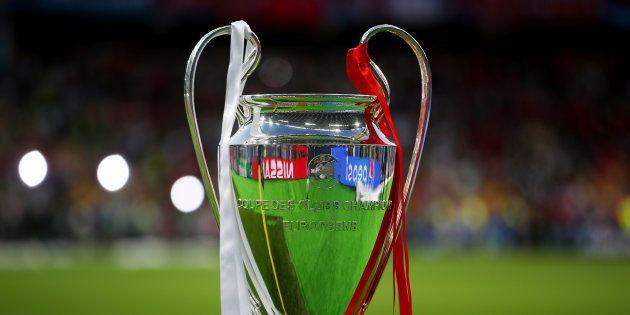 Le trophée de la Ligue des champions à Kiev le 26 mai
