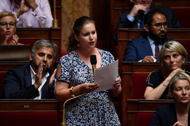 Mathilde Panot, candidate Insoumise à la présidence de l'Assemblée