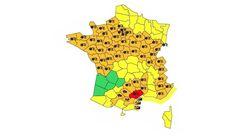 L'Hérault placé en alerte rouge neige-verglas, 57 départements en vigilance
