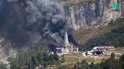 Impressionnant incendie au téléphérique des Grands Montets à