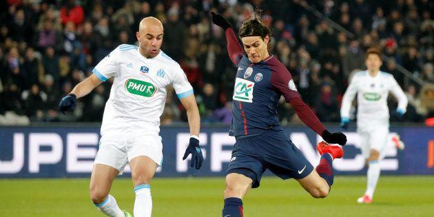 Edinson Cavani a inscrit le 3e but contre l'OM en Coupe de France ce 28 février