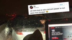 Les images de la galère sur l'A9 près de Montpellier, vue de