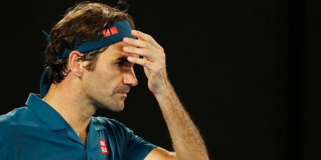 Roger Federer à Melbourne lors de son match perdu face à Stefanos Tsitsipas, dimanche 20