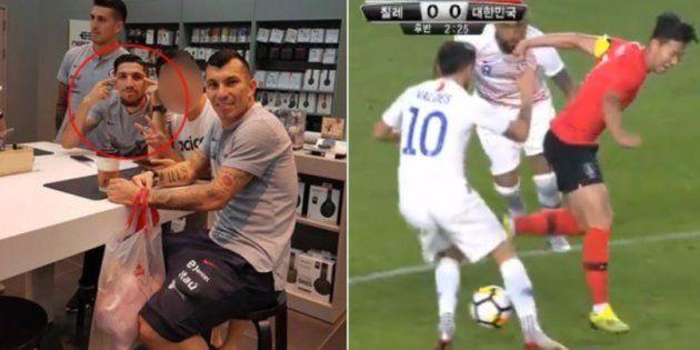 Le footballeur chilien Diego Valdes s'y reprendra à deux fois avant de se faire