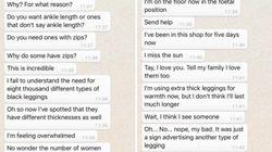 Cet homme chargé d'acheter un legging à sa copine a eu du mal à s'en
