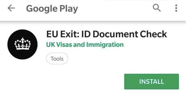 Brexit: une application mobile lancée par le