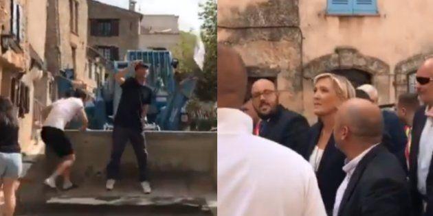Marine Le Pen conspuée lors d'un passage dans un village qui va accueillir des