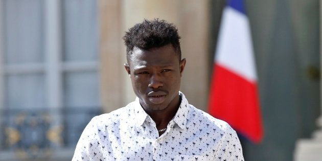 Mamoudou Gassama à l'Elysée le 28 mai