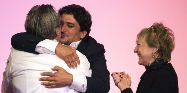Le chef italo-argentin Mauro Colagreco et le Français Laurent Petit, tous les deux trois étoiles dans...