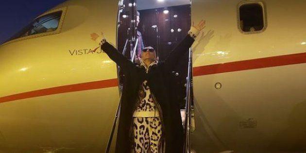 La star est arrivée à Paris ce lundi 21