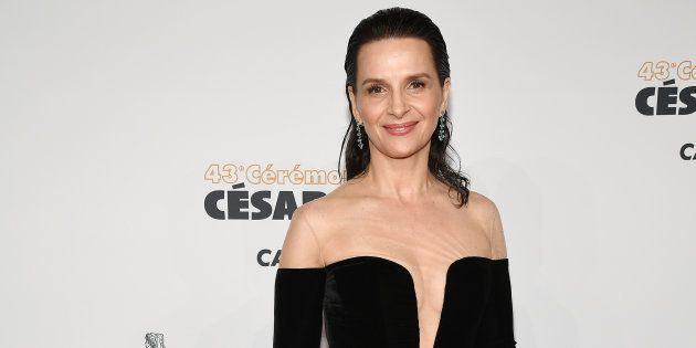 PARIS, FRANCE - MARCH 02: Juliette Binoche arrives at the Cesar Film Awards 2018 at Salle Pleyel on March...