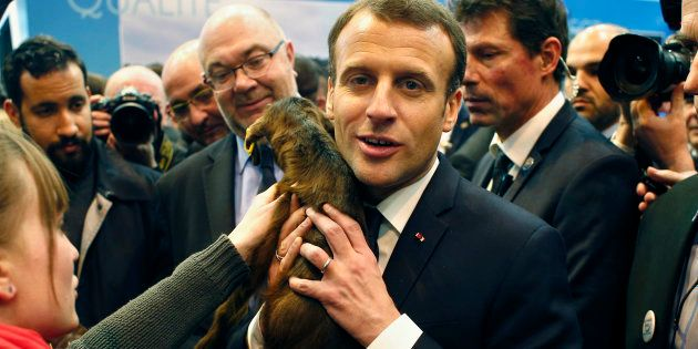 Le Président Emmanuel Macron au Salon de l'Agriculture, le 24 février