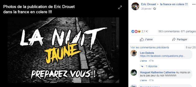 Éric Drouet appelle à une