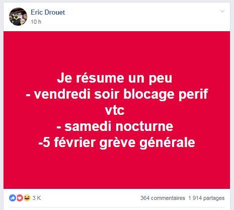 Éric Drouet veut manifester la