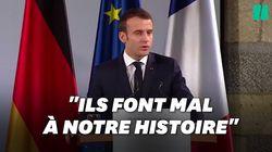 Macron condamne