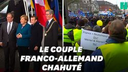 Macron et Merkel copieusement hués à
